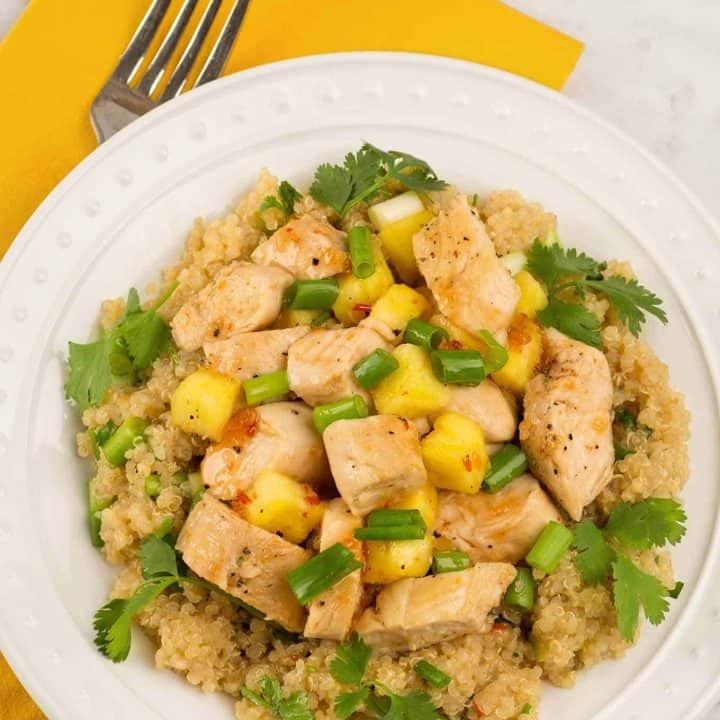 Sweet Chili Chicken and Quinoa Salad