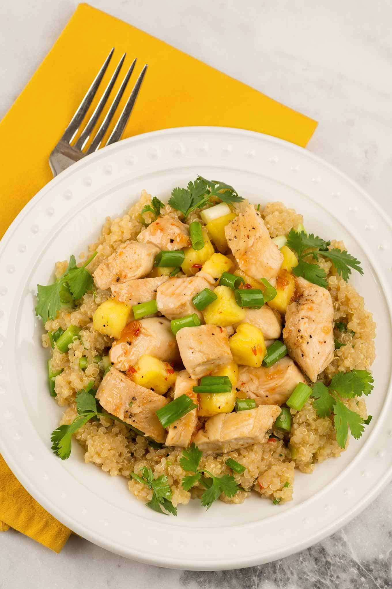 Sweet Chili Chicken and Quinoa Salad | MyGourmetConnection