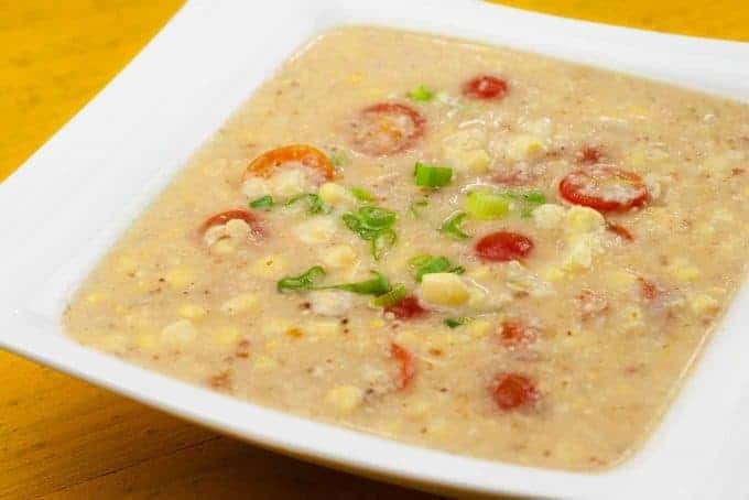 Sweet Corn, Bacon and Tomato Chowder | MyGourmetConnection