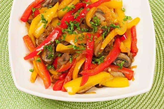 Sweet Pepper, Mushroom and Onion Medley