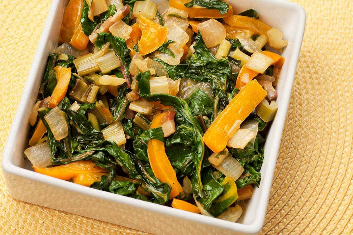 Creamy Swiss Chard and Bell Pepper Medley