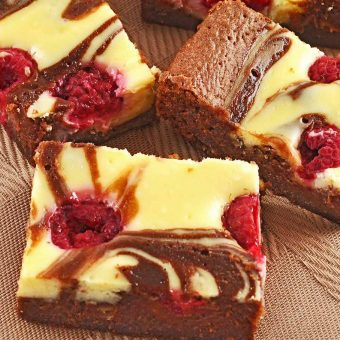 Tangy Raspberry Cheese Brownies