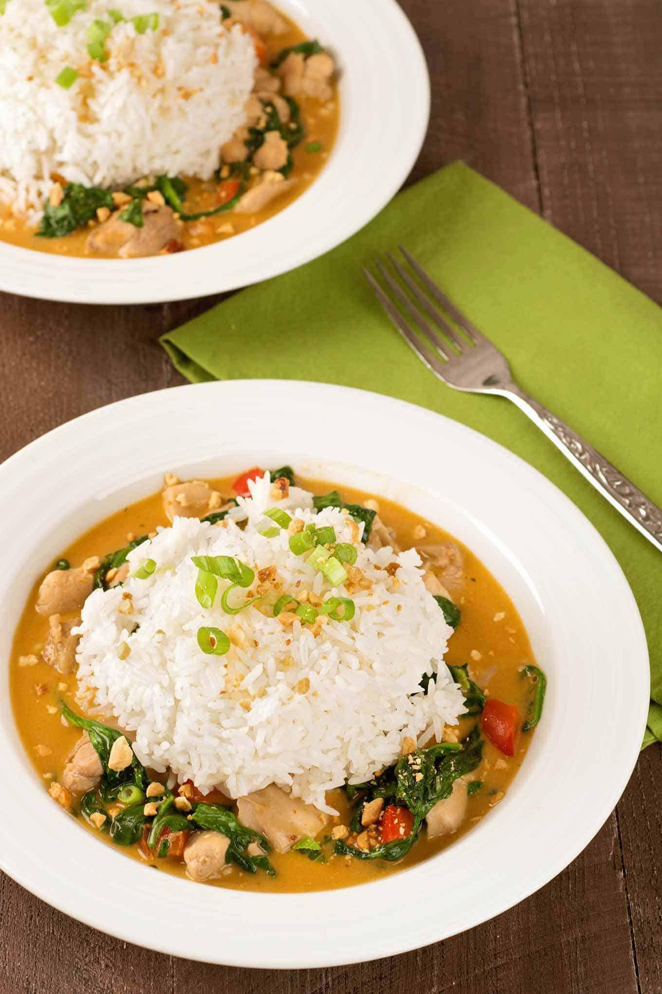Thai Peanut Curry Chicken