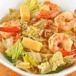Thai Shrimp and Cabbage Noodle Pot