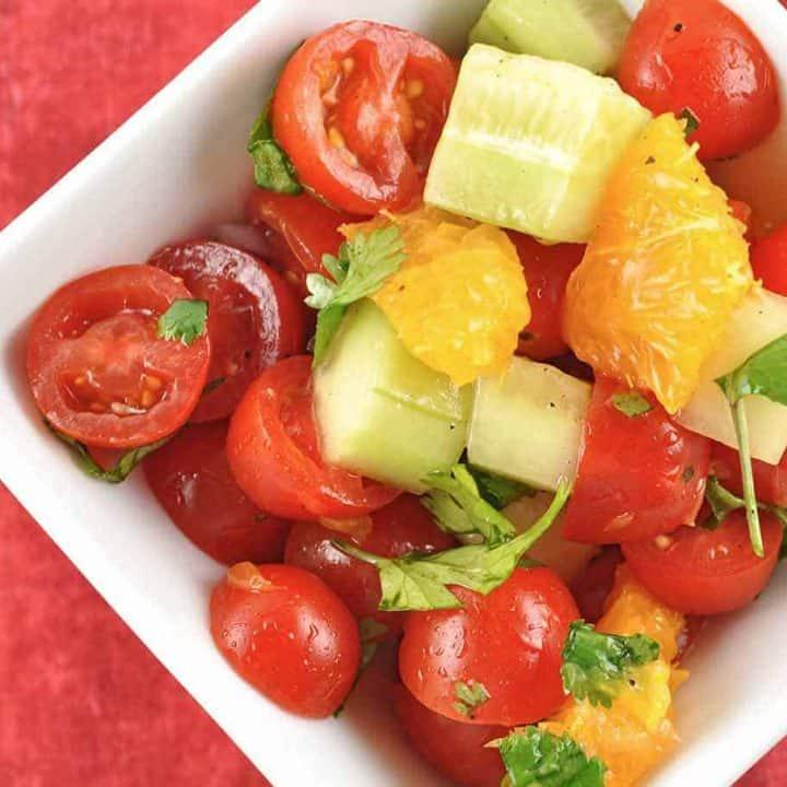 Tomato, Orange and Cucumber Salad