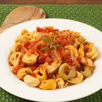 Tortellini with Rosemary-Tomato Sauce