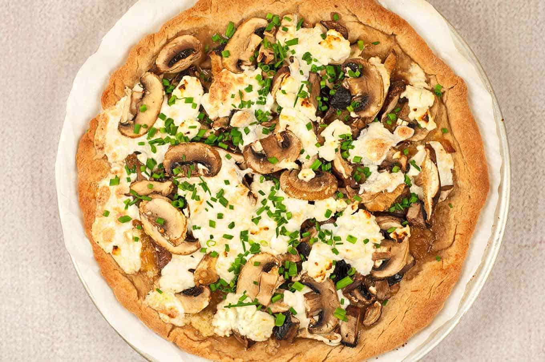 Truffled Mushroom and Goat Cheese Pizza
