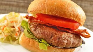 Turkey Burgers with Blue Cheese, Bacon and Honey