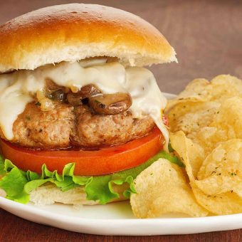 Turkey Mushroom Burgers