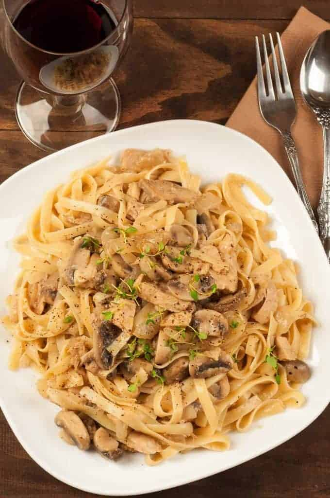 Turkey and Mushroom Fettuccine Recipe