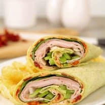 Turkey Wraps with Sun Dried Tomato Spread