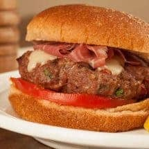 Tuscan-Style Burgers with Prosciutto
