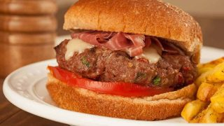 Tuscan Style Burgers with Prosciutto