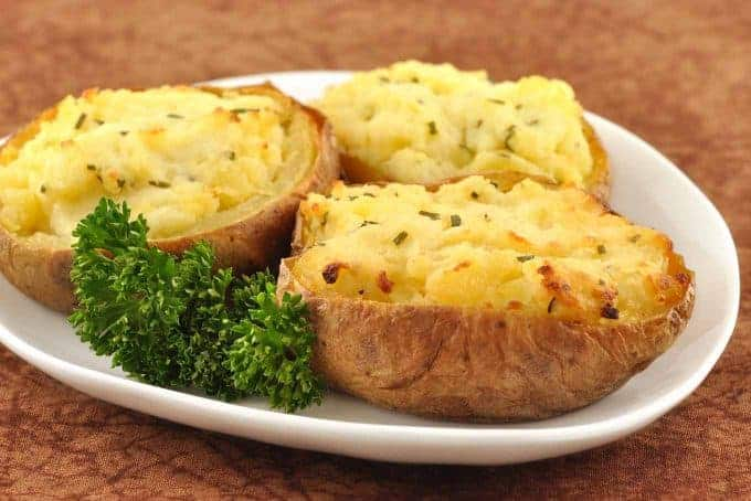 Twice-Baked Goat Cheese-Truffle Potatoes