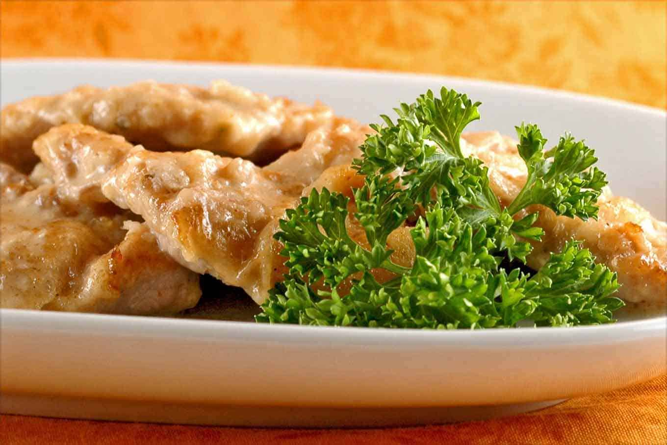 Veal Cutlets with Cider Horseradish Sauce