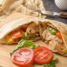 Vegetarian Pita Melt