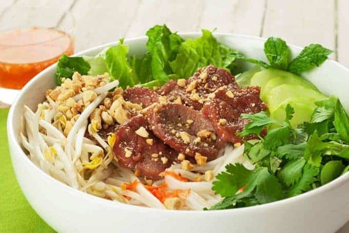 Vietnamese Noodle Salad With Caramelized Pork