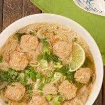 Vietnamese Meatball Noodle Soup