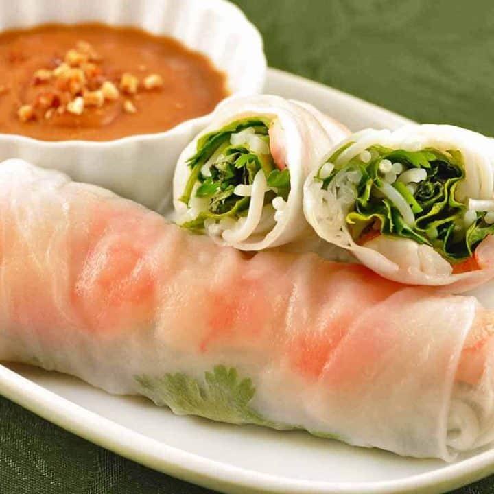 Vietnamese Summer Rolls with Shrimp