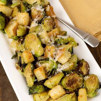 Warm Brussels Sprouts Caesar