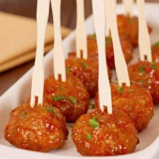 Whiskey Glazed Cocktail Meatball Appetizer Recipes