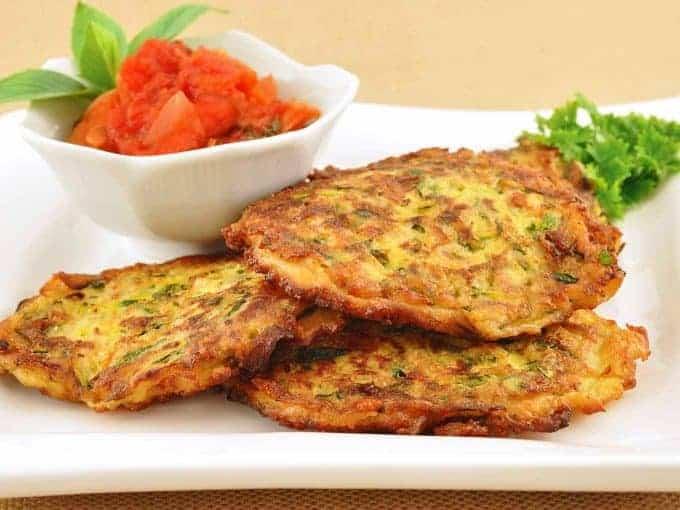 Zucchini-Parmesan Fritters